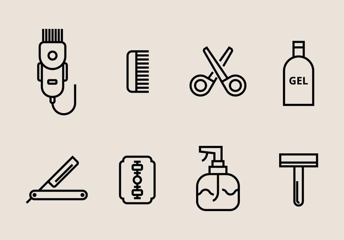 Hair Clippers Pictogrammen vector