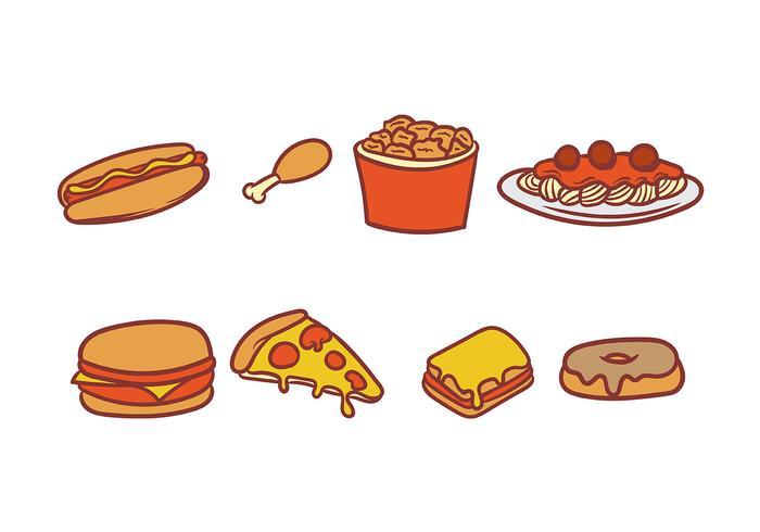 Voedsel icoon vector pakket
