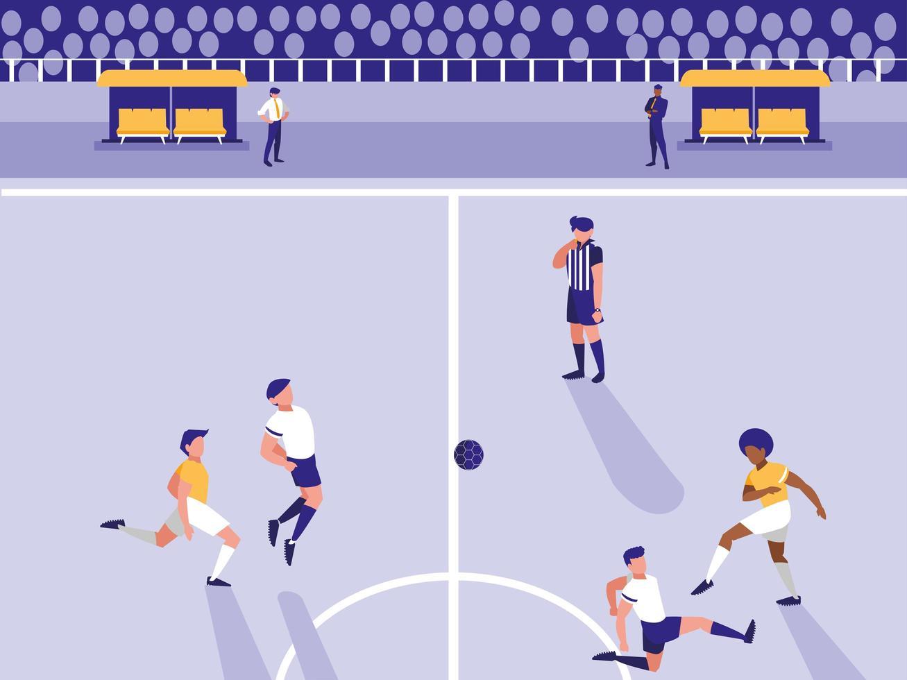 voetbal voetbalstadion scène vector