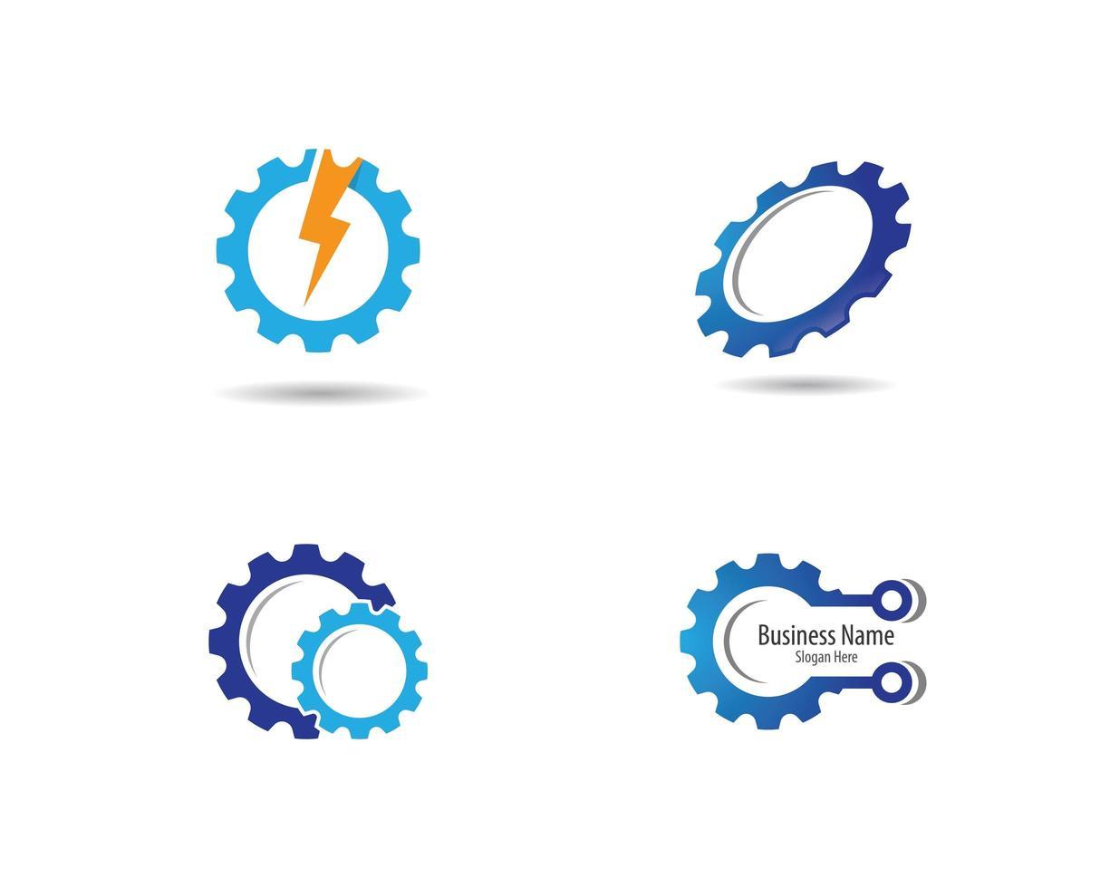 set van versnelling machines logo vector