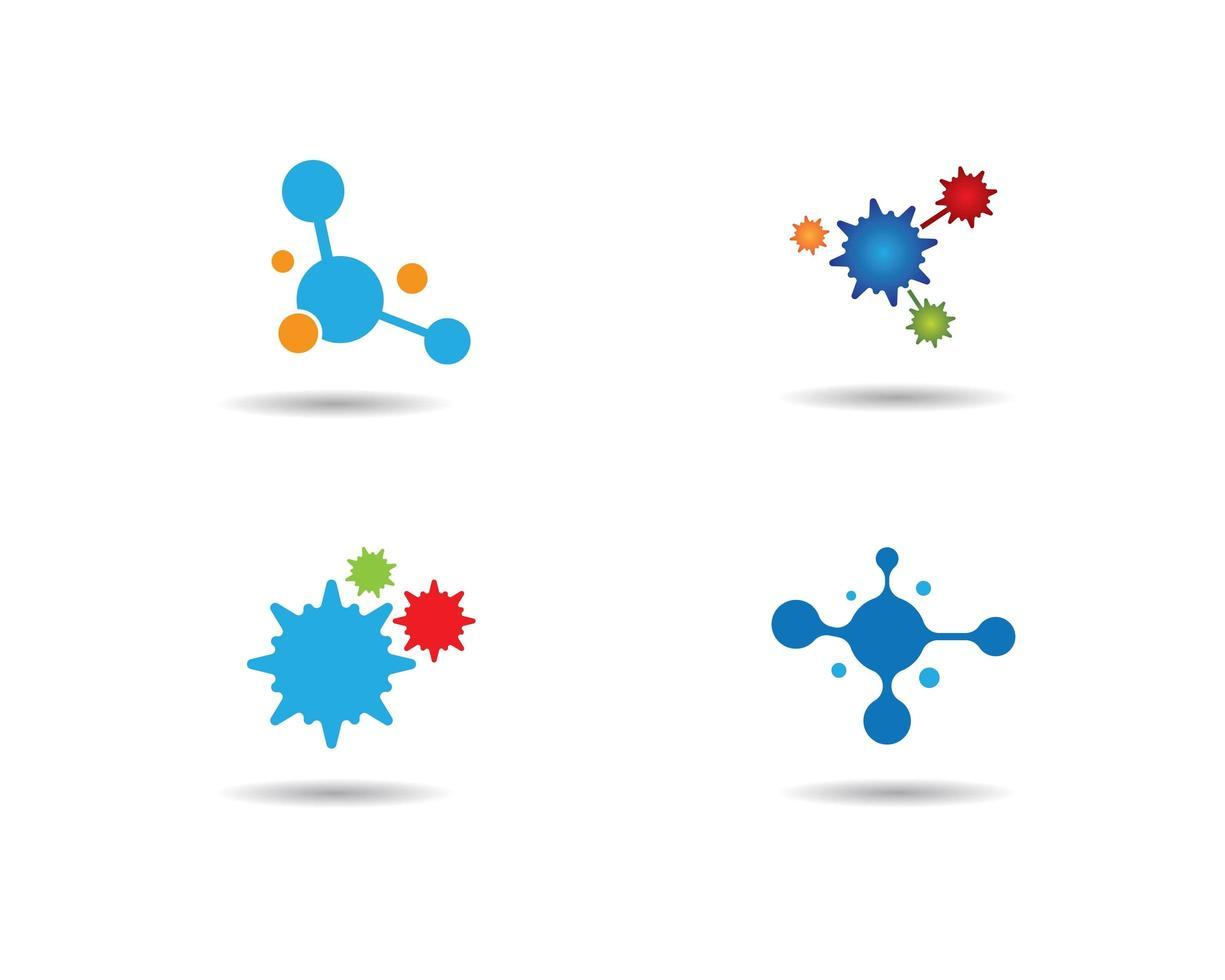 molecuul logo set vector