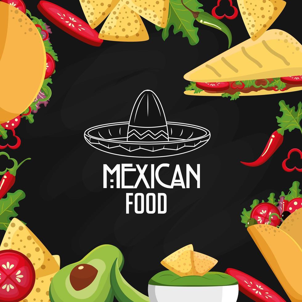 Mexicaans eten ontwerp vector