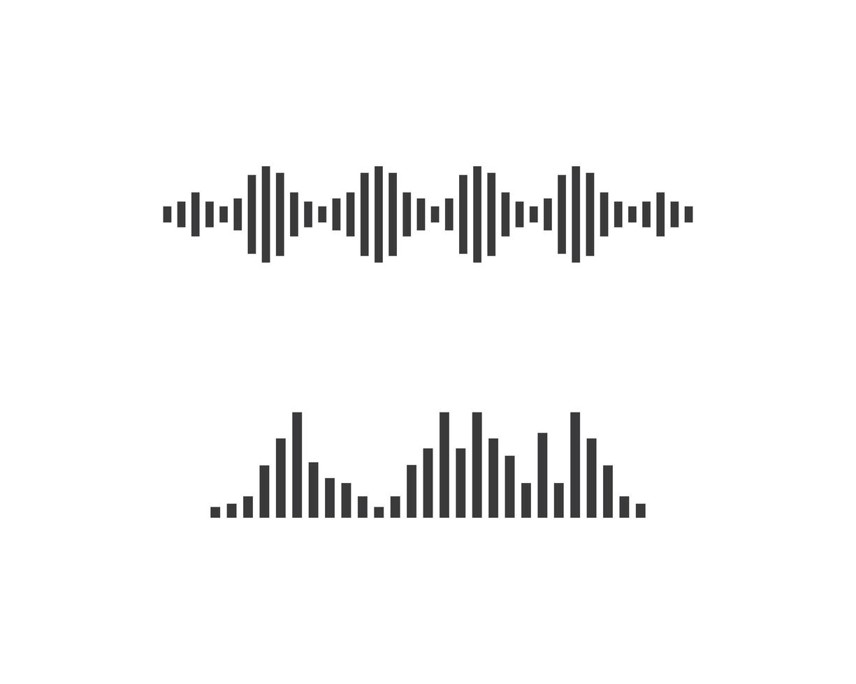 geluidsgolf logo set vector