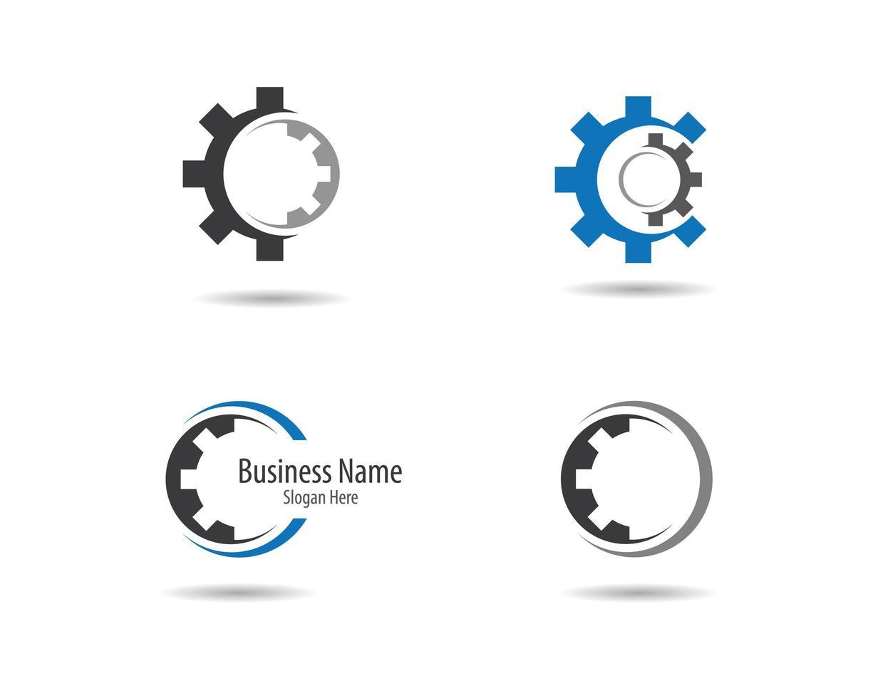 versnelling logo decorontwerp vector