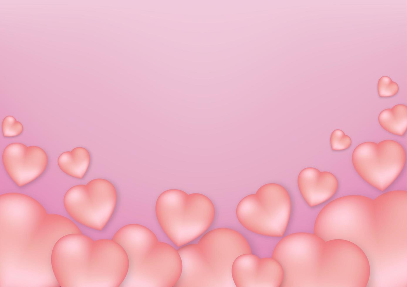 vorm van hartjes op een roze achtergrond vector