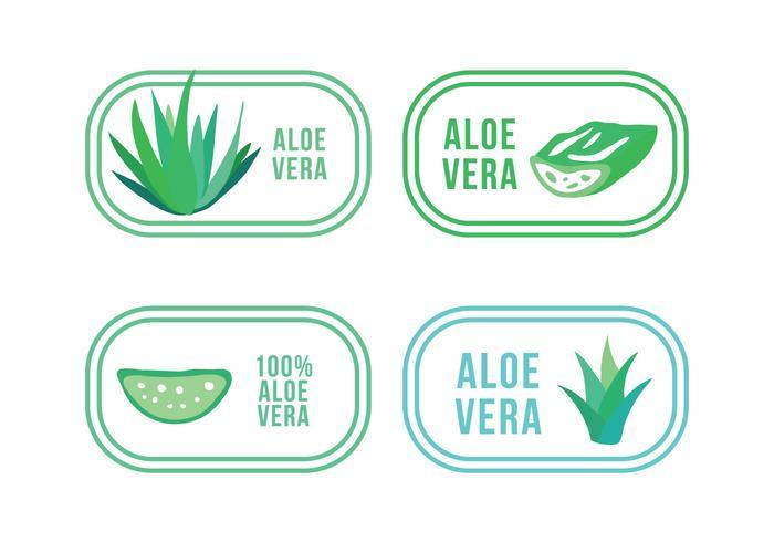 Set Aloe en Maguey Logos vector
