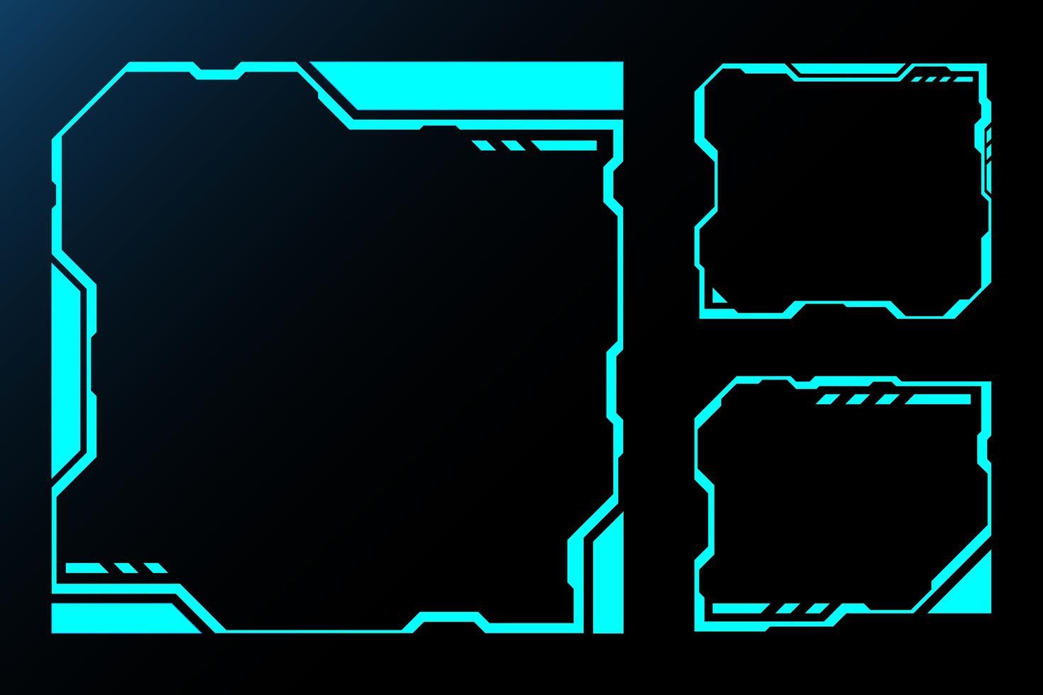 technologie toekomstige interface hud kaderset vector