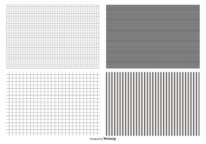 Naadloze Grid Pattern Collection vector