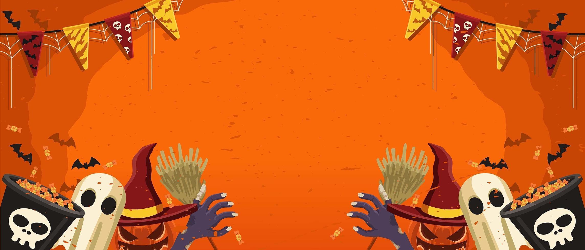 laten we halloween achtergrond vieren vector