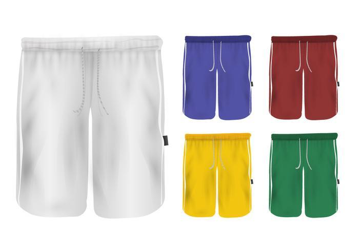 Set Sweatpants Blank Design vector