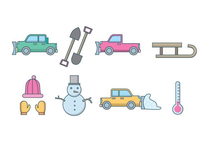 Gratis Sneeuwploeg En Winter Vector