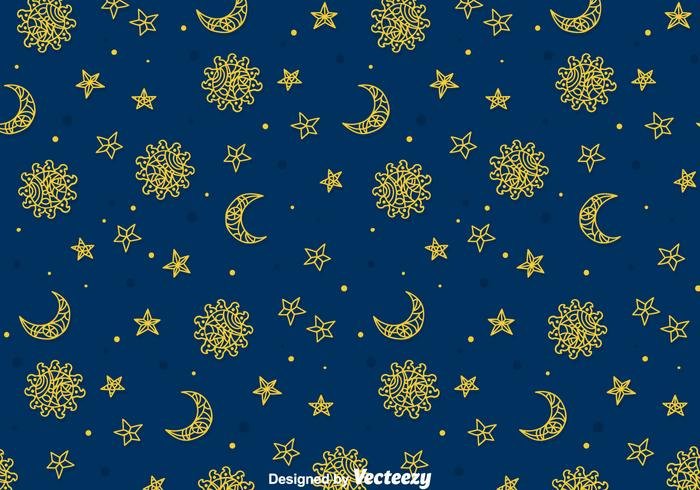 Zon, Maan En Zon Gipsy Naadloos Patroon vector