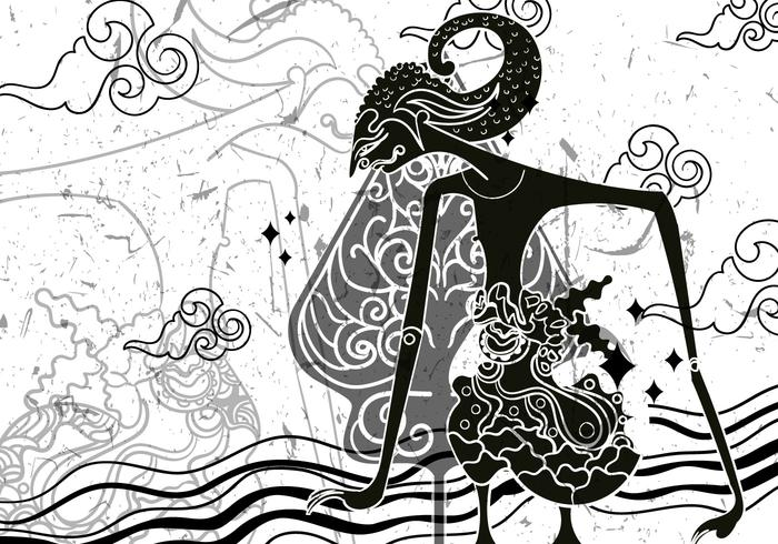 """Wayang """"Gunungan"""" Illustratie vector"""