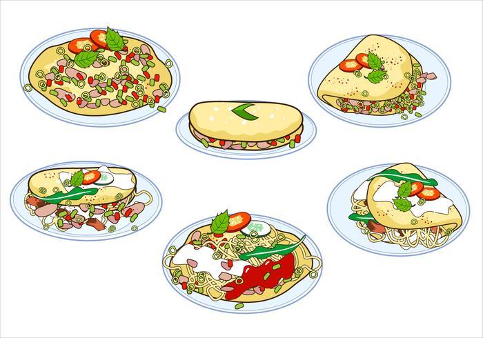Omelet Gratis Vector