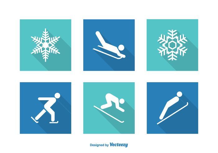 Gratis Vector Wintersport Pictogrammen