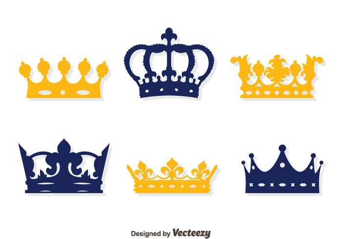 Britse Crown Collection Vector Set