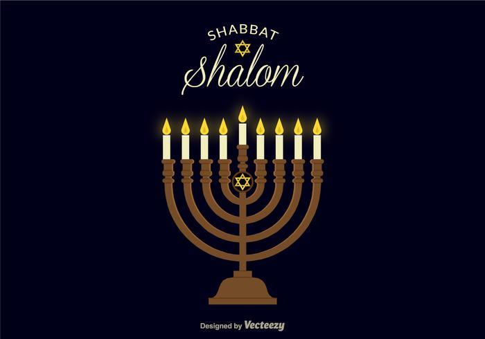 Shabbat Shalom Vector Achtergrond