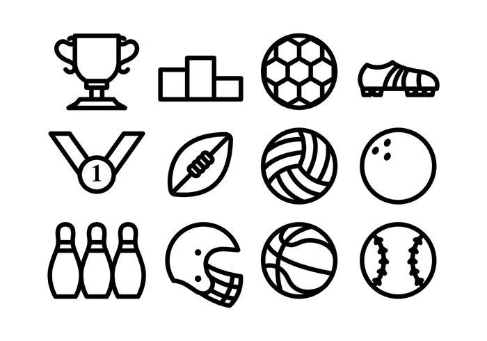Sport pictogram vlakke lijn vector