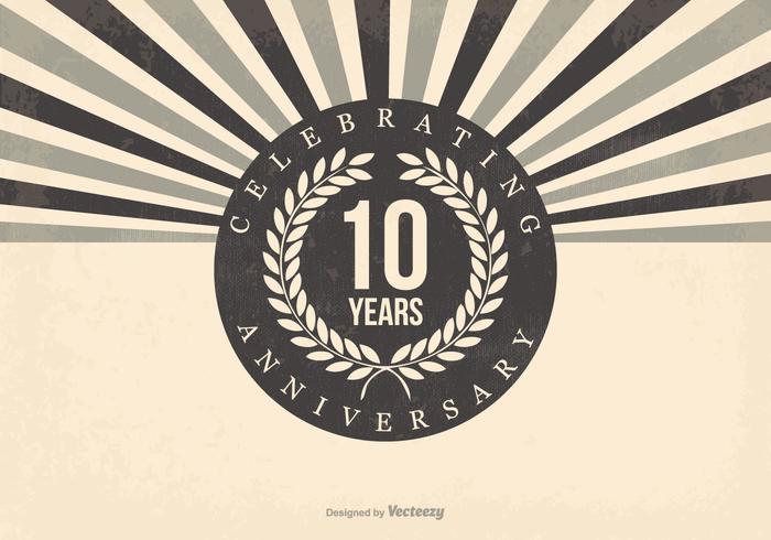 Retro 10e Verjaardag Illustratie vector