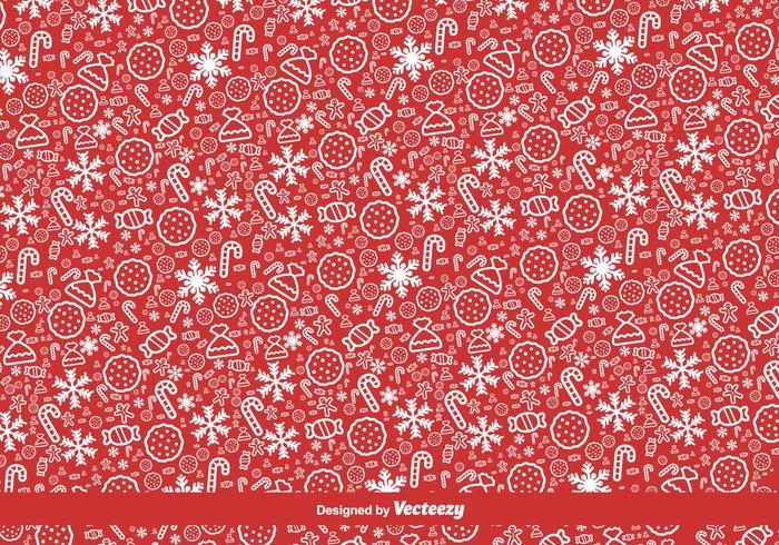Rode Kerstmis Vector Patroon