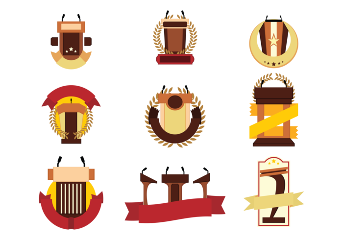 Gratis Lectern Emblemen Vector