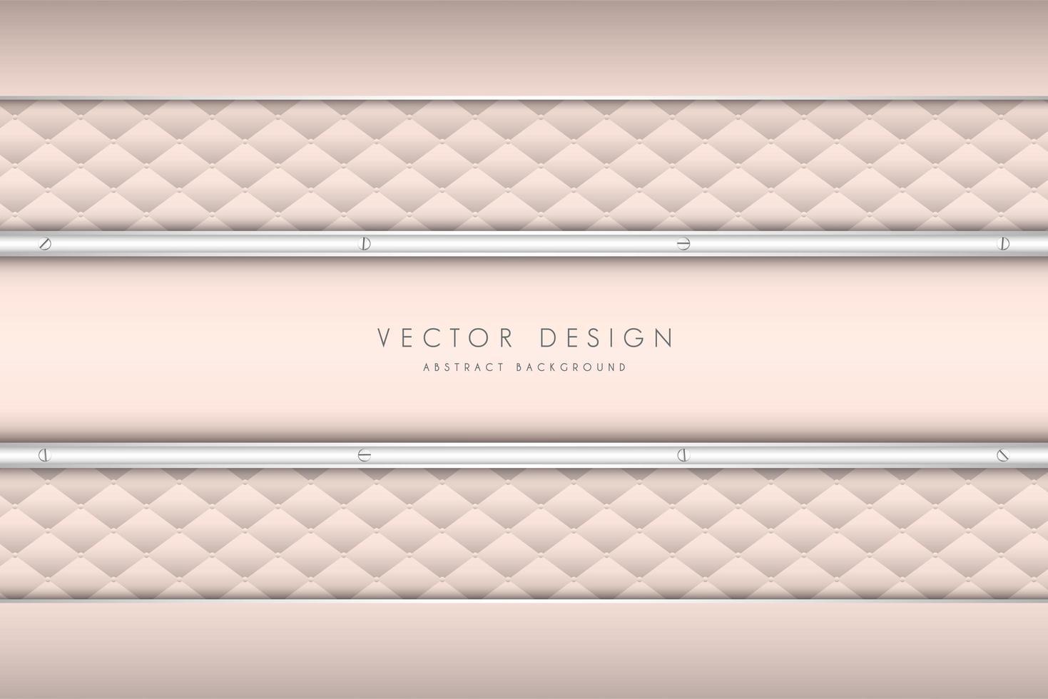 elegant roze stoffering patroon en panelen vector