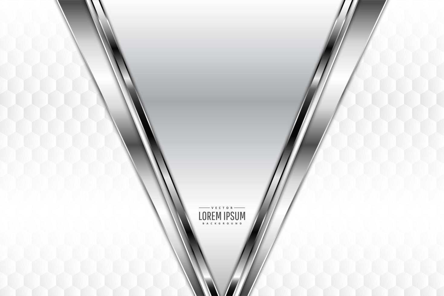 zilveren metalen schuine randen met veelhoekpatroon vector