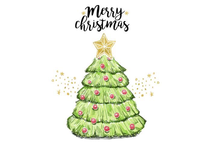 Gratis Kerstboom vector