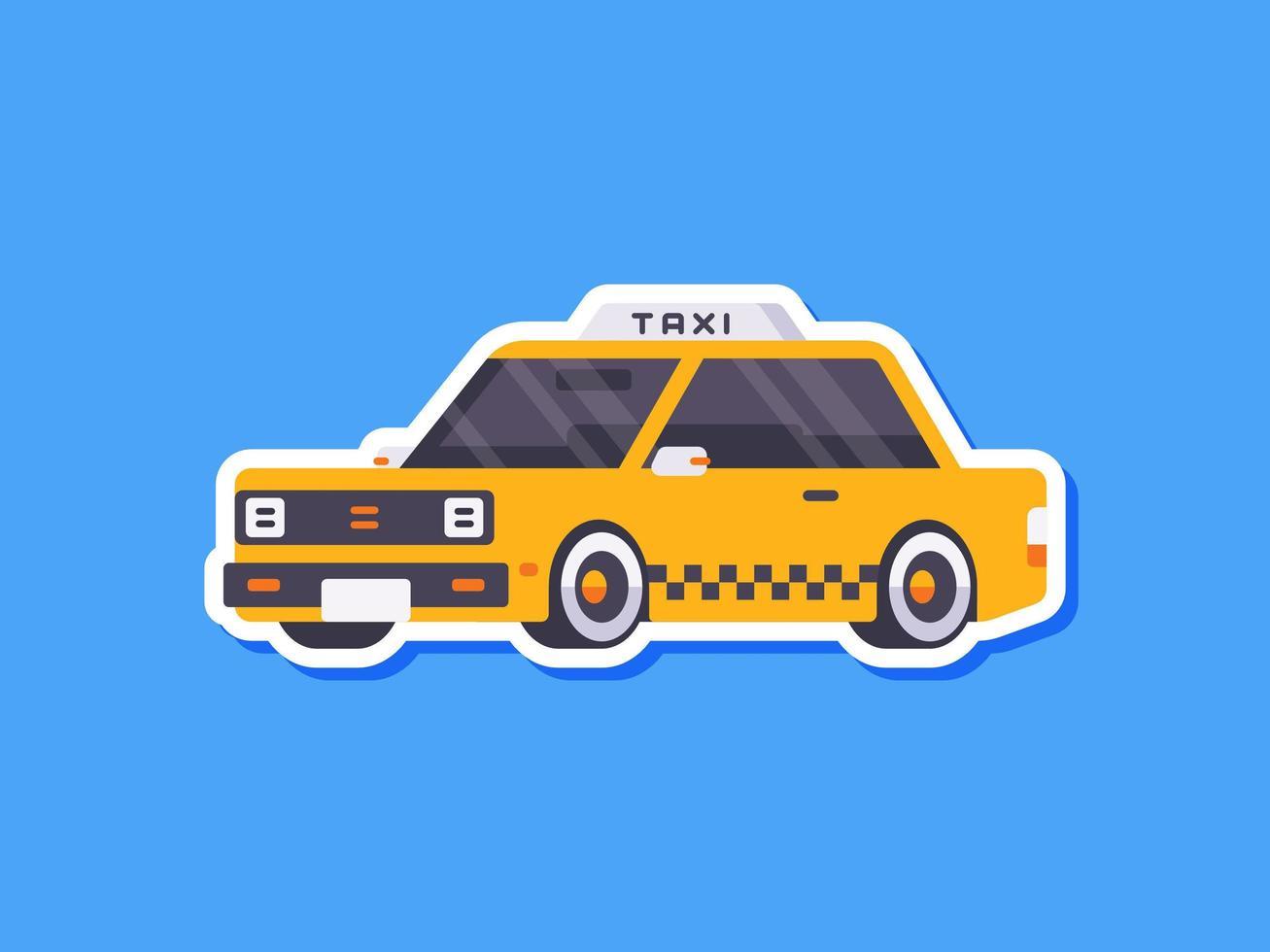 taxi sticker in vlakke stijl vector