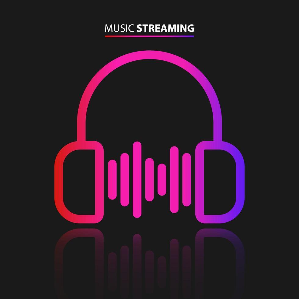 muziek streaming pictogram vector