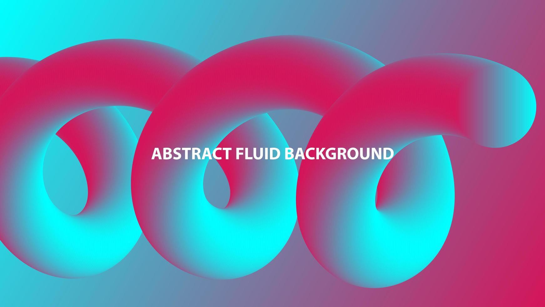 abstracte spiraalvormige vloeibare vorm in roze en blauw verloop vector