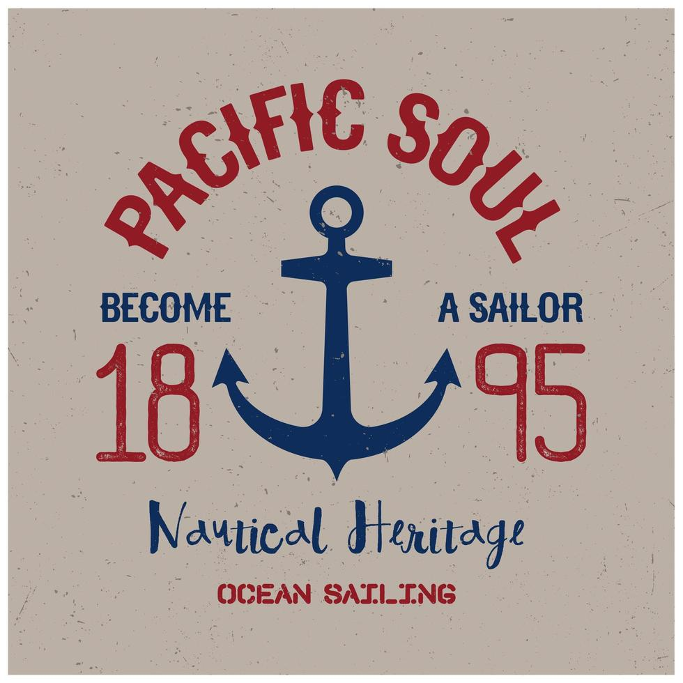 pacific soul t-shirt ontwerp vector