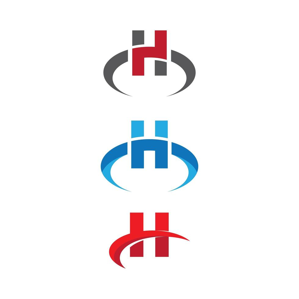 letter h logo ingesteld vector