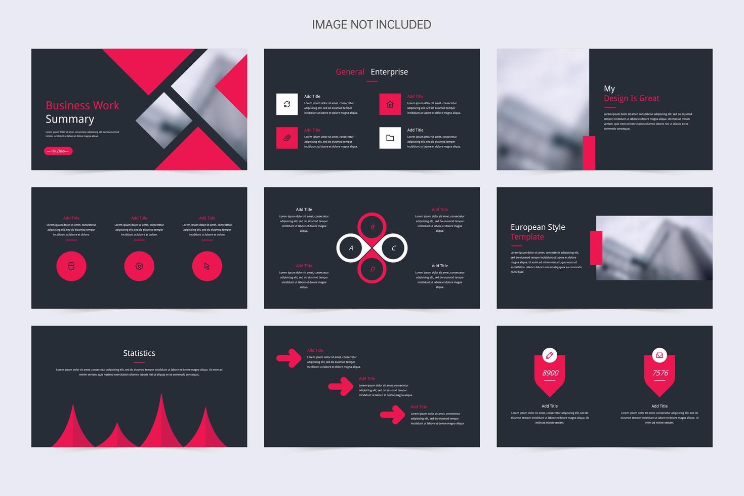 minimalistische grijze en rode diapresentatie van het bedrijf vector