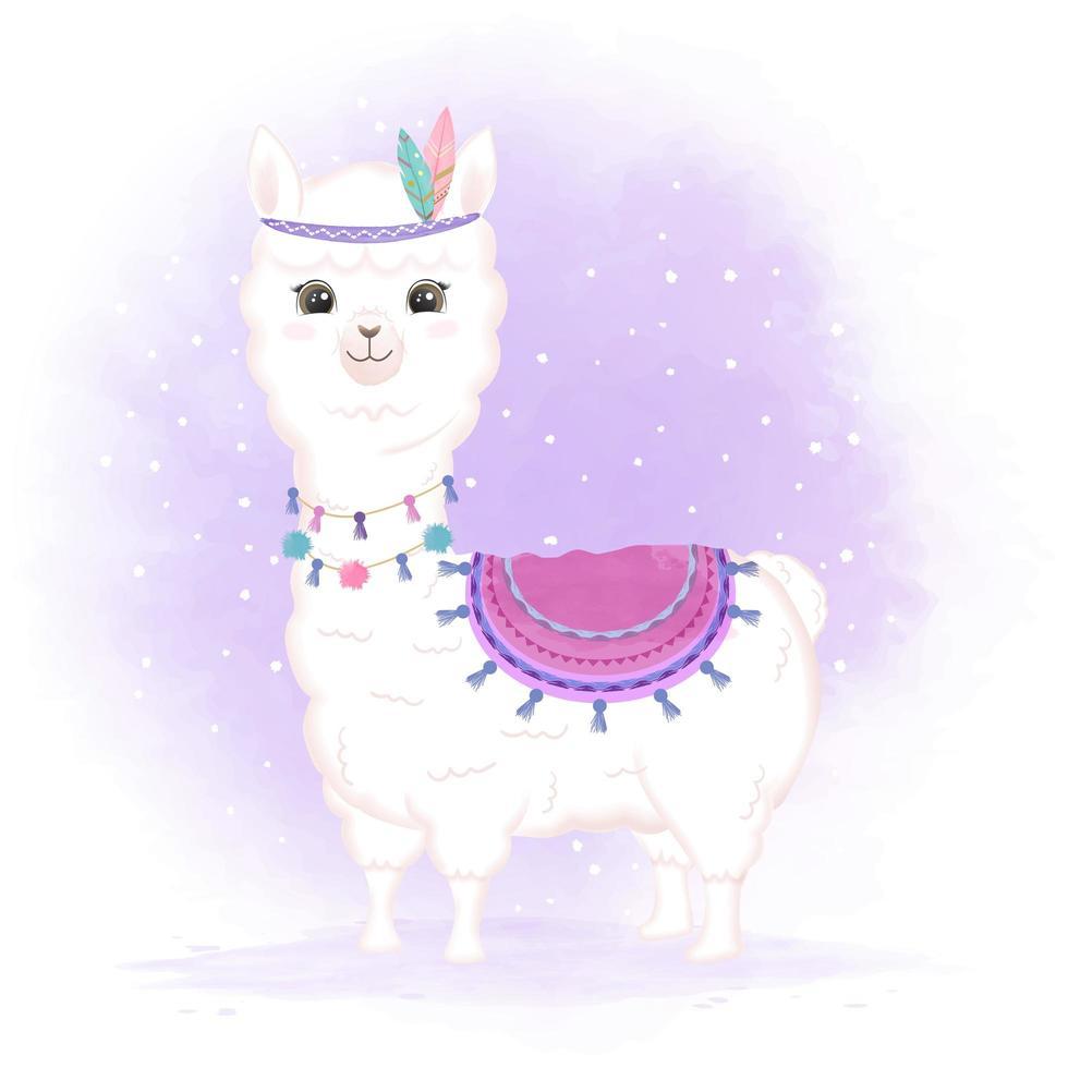 tribale babylama in aquarel stijl vector
