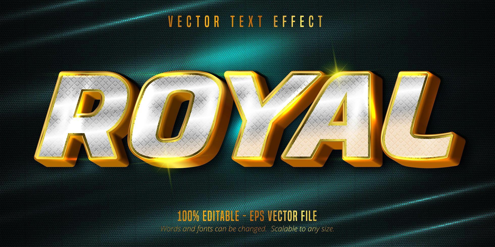 koninklijk bewerkbaar teksteffect op gestructureerde achtergrond vector