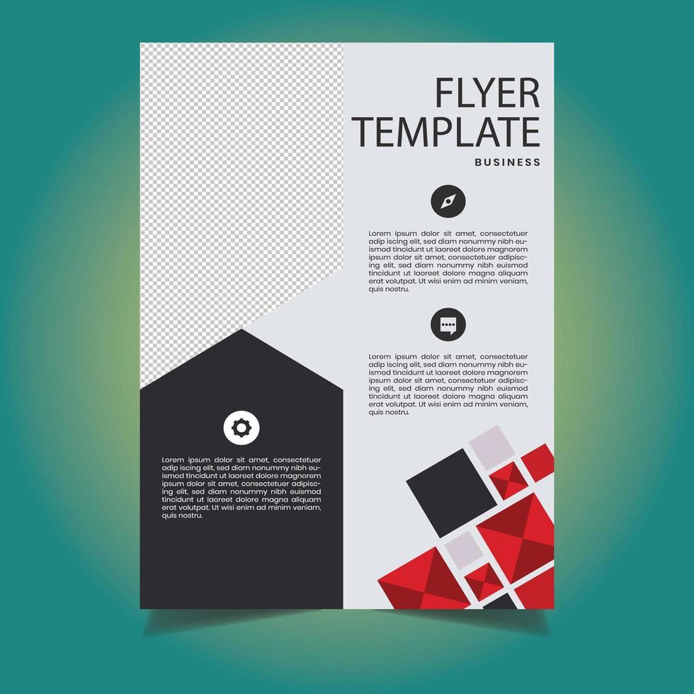 zakelijke rode en zwarte zakelijke flyer-sjabloon vector