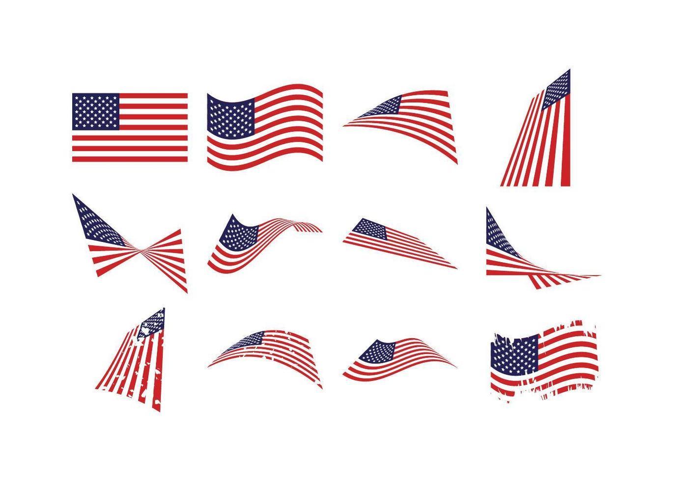 usa vlag is ingesteld vector