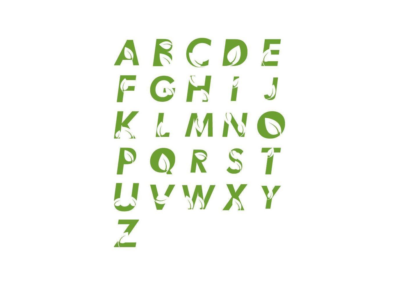 alfabet blad set vector