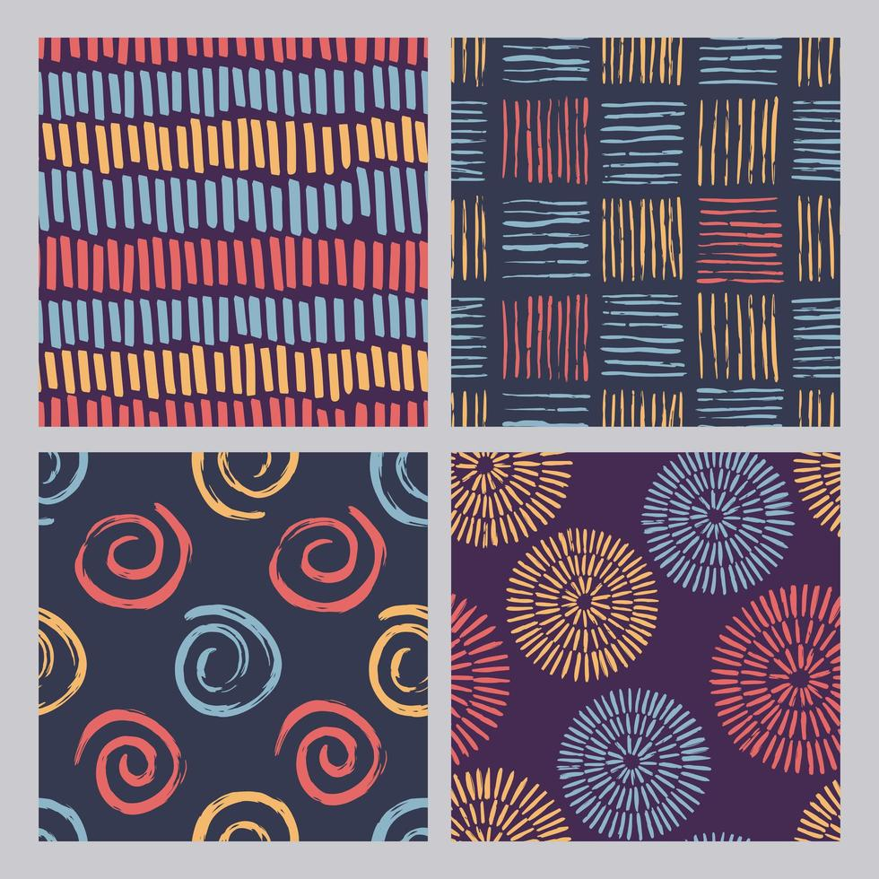 abstracte kleurenpatroon grunge texturen vector