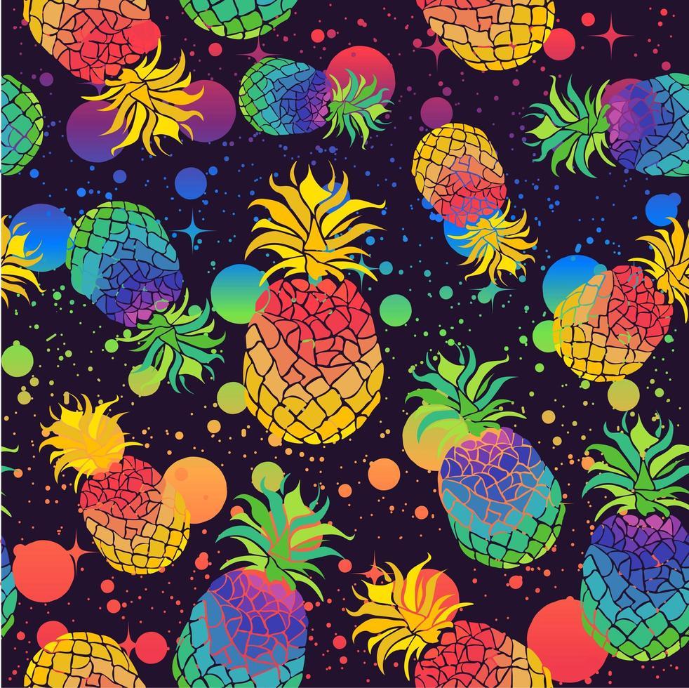 kleurrijke ananas met de kleuren van de trotsvlag vector