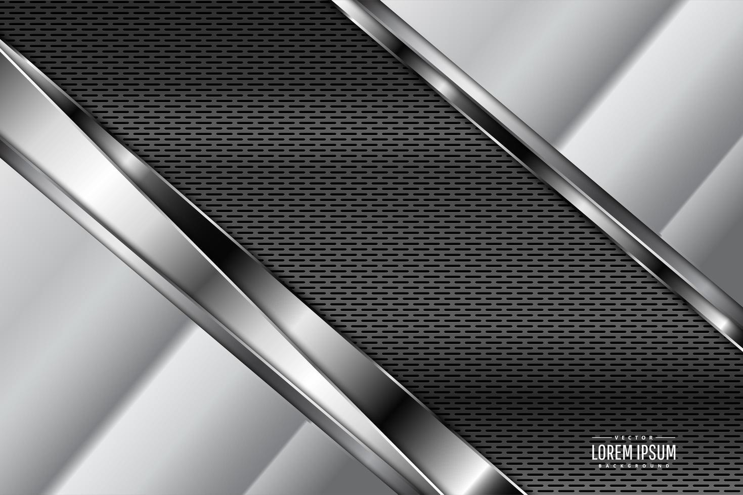 metalen achtergrond met koolstofvezel donkere ruimte vector