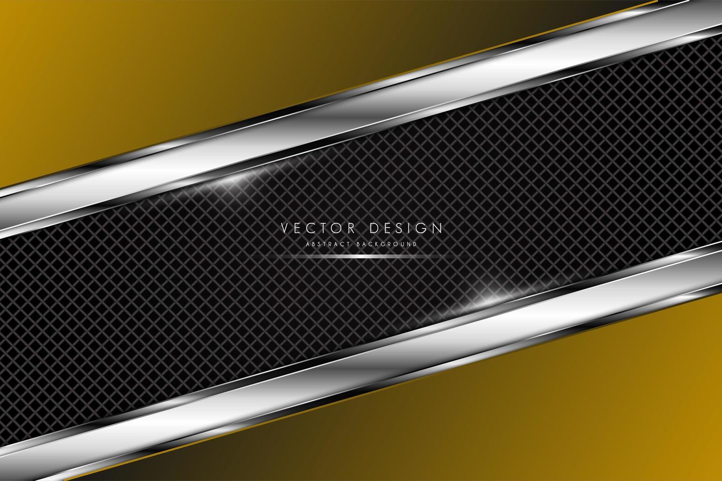 gouden metalen achtergrond met koolstofvezel textuur vector