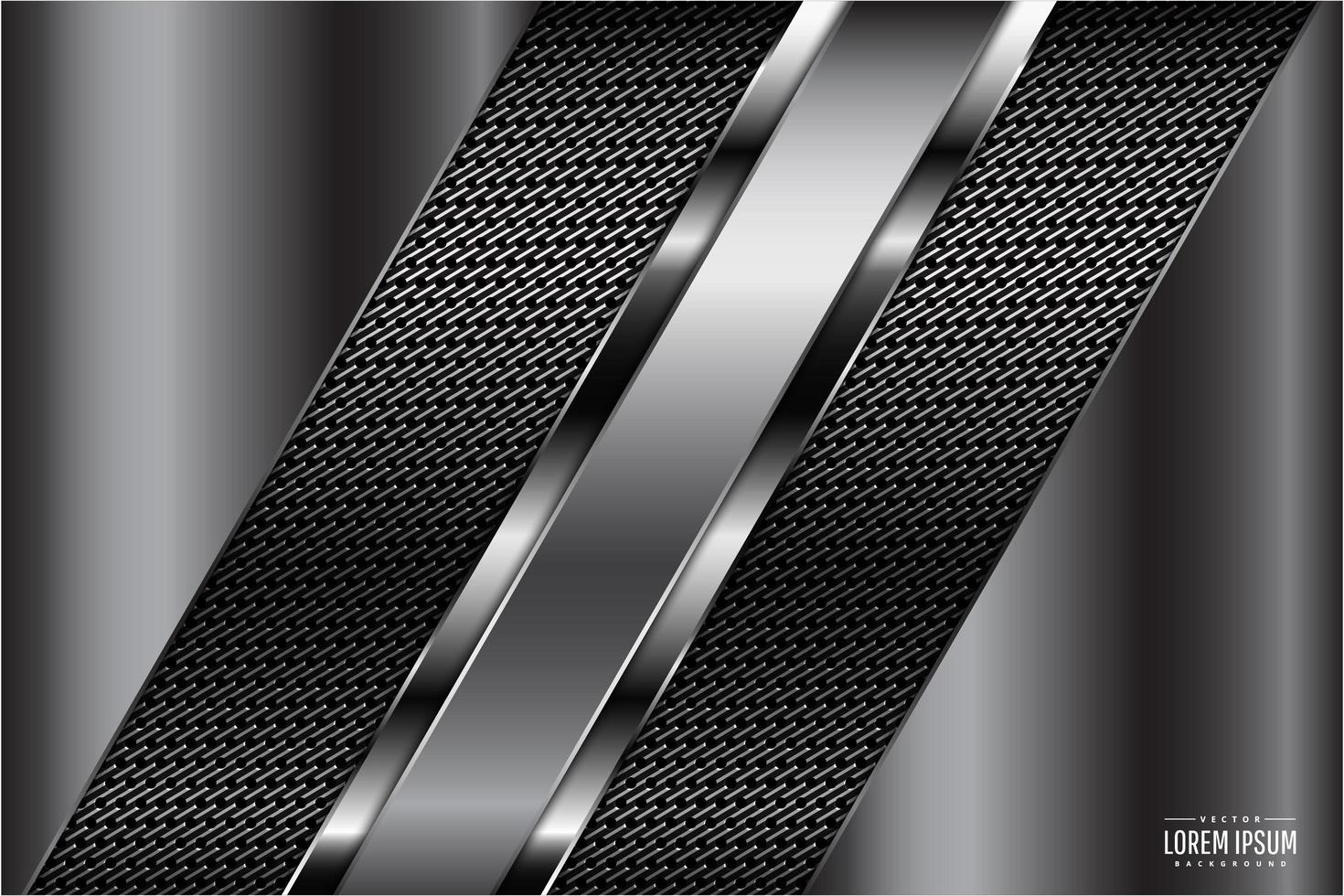 grijze metalen panelen met donkere textuur vector
