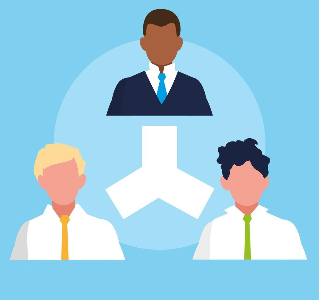 zakenlieden organigram vector
