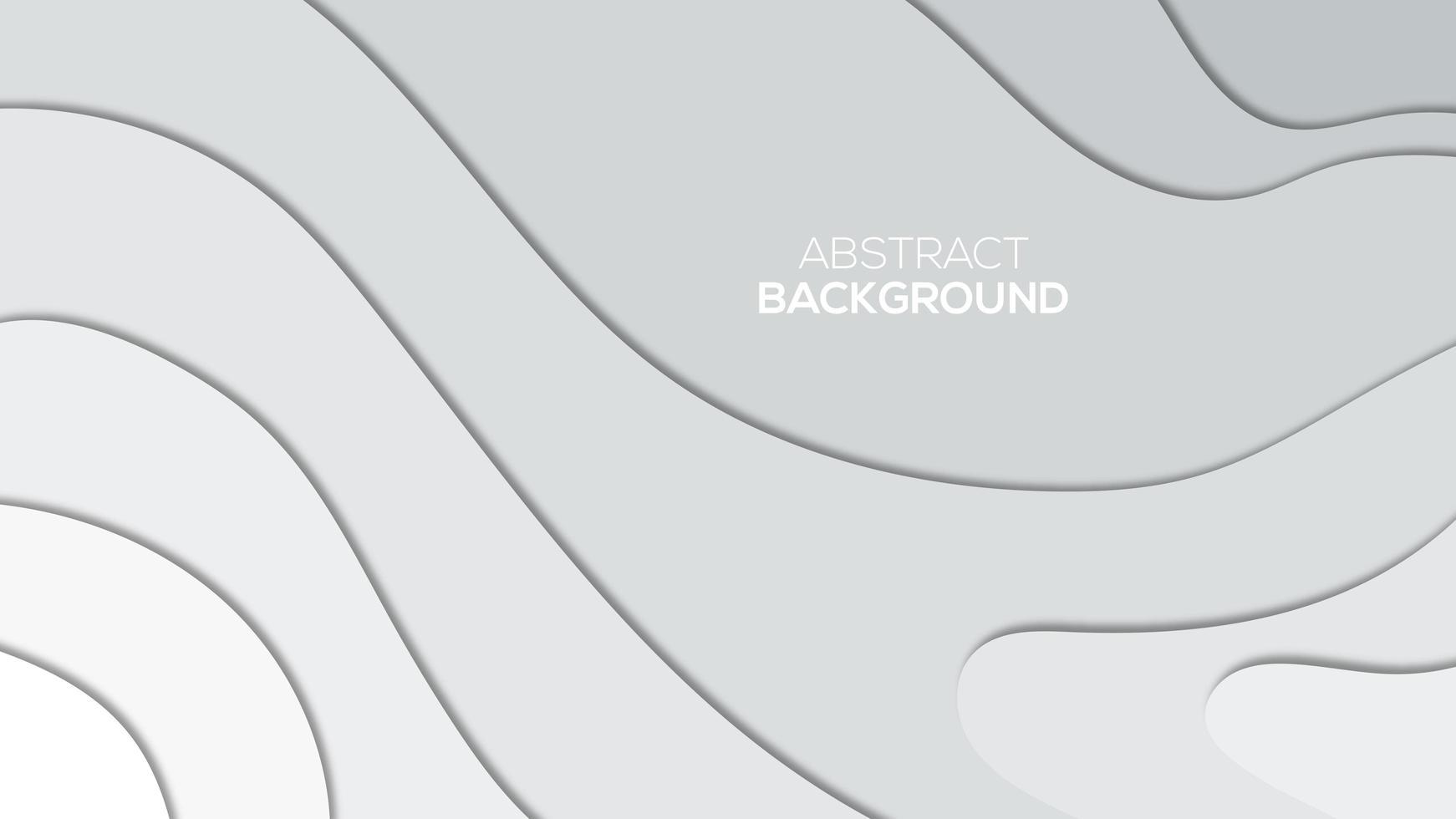 stijlvol grijs verloop papercut achtergrondontwerp vector