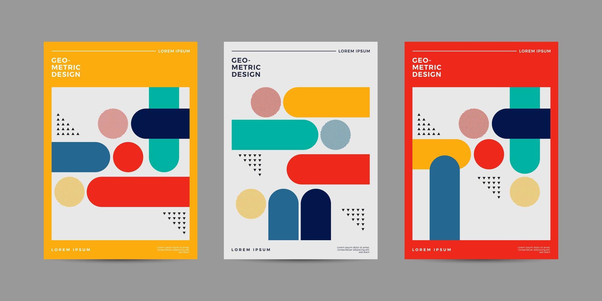 covers met minimaal kleurrijk ontwerp vector