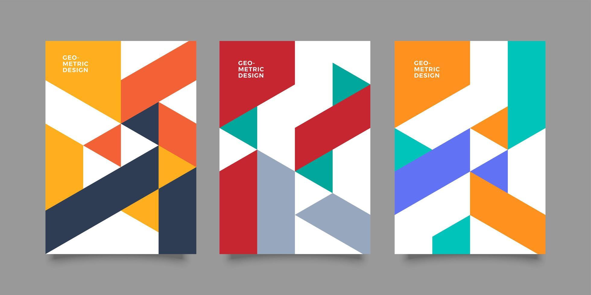 bedrijfsrapport dekking abstract vector