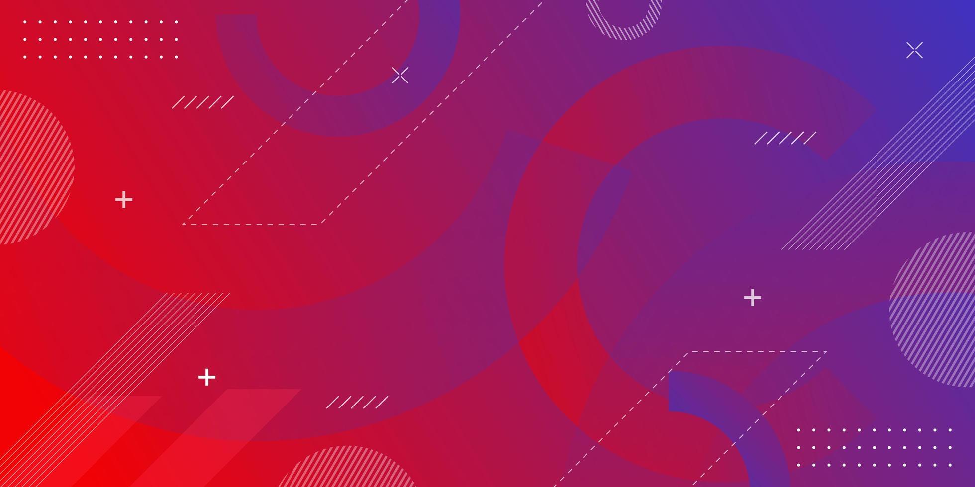 vaporwave achtergrond met geometrische elementen van neo Memphis vector