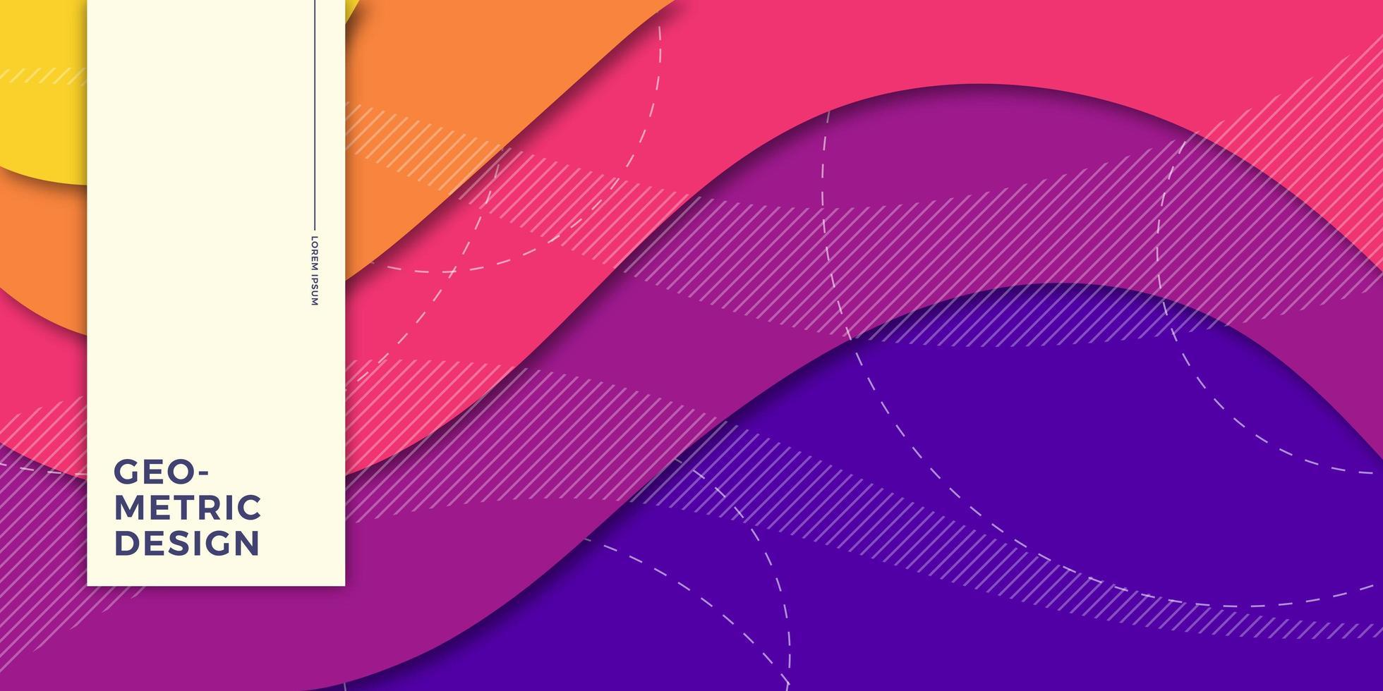 regenboogachtergrond met abstracte vormen vector